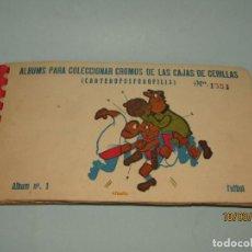 Álbum de fútbol completo: ANTIGUO ÁLBUM Nº 1 DE FÚTBOL DE LAS CAJAS DE CERILLAS DE FOSFORERA ESPAÑOLA 1959 - COMPLETO. Lote 155703506