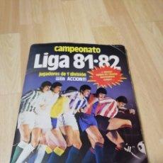 Álbum de fútbol completo: ALBUM LIGA ESTE 81/82..COMPLETO..349 CROMOS COLOCAS Y BAJAS...PEDRAZA, URRUTI, VERON, HERBERA... Lote 155704994