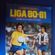 Álbum de fútbol completo: (AL-190305)ALBUM CROMOS LIGA 80-81 - DOBLES Y FICHAJES - EDITORIAL ESTE. Lote 155923870