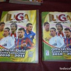 Álbum de fútbol completo: BRUTALES 2 ALBUMS DE FUTBOL MUNDICROMO 2010-2011,TOTAL 1812, PRIMERA Y SEGUNDA DIVISION,SALIDA 1 E. Lote 155962450
