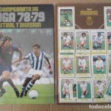 Álbum de fútbol completo: ALBUM ESTE 78/79+LA COLECCION COMPLETA MENOS LOS 8 COLOCAS,CON TODOS LOS DOBLES NUNCA PEGADOS-LEER. Lote 156525338