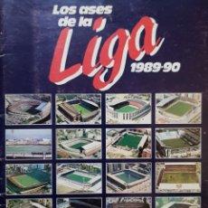 Álbum de fútbol completo: ÁLBUM LOS ASES DE LA LIGA 1989-90. COMPLETO.. Lote 156551478