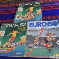 Álbum de fútbol completo: EURO 88 EUROCOPA ALEMANIA 1988 COMPLETO, ESPAÑA 82 MUNDIAL 1982 INCOMPLETO PANINI. REGALO OTRO ITEM.. Lote 156738698
