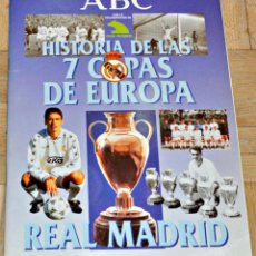Álbum de fútbol completo: ÁLBUM DEL ABC HISTORIA DE LAS 7 COPAS DE EUROPA DEL REAL MADRID, AÑO 1998. COMPLETO.. Lote 157222402