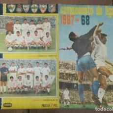 Álbum de fútbol completo: ÁLBUM FUTBOL CAMPEONATO DE LIGA 1967- 68 DISGRA COMPLETO + 3 FICHAJES ?? IZNATA, VIDAL E ISIDRO. Lote 158031654