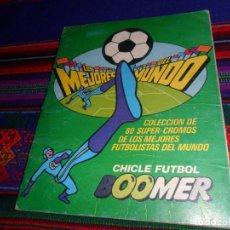 Album de football complet: CHICLE BOOMER LOS MEJORES DEL MUNDO 1981 COMPLETO, ASES DE LA LIGA 86 87 COMPLETO. REGALO 87 88.. Lote 158965358