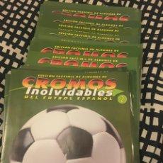 Álbum de fútbol completo: FASCÍCULO FACSÍMIL CROMOS INOLVIDABLES ELIGE TUS FALTAS. Lote 159444378
