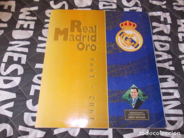 ALBUM REAL MADRID ORO 1902 1996 MUY BUEN ESTADO (Coleccionismo Deportivo - Álbumes y Cromos de Deportes - Álbumes de Fútbol Completos)