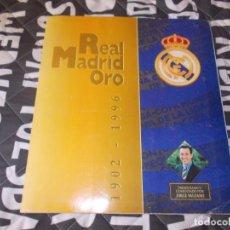 Álbum de fútbol completo: ALBUM REAL MADRID ORO 1902 1996 MUY BUEN ESTADO. Lote 159748030