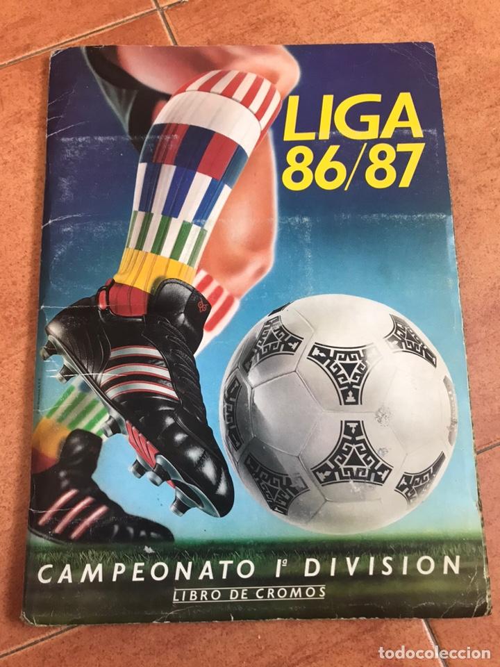 ÁLBUM EDICIONES ESTE 86-87 COMPLETO MUCHOS DOBLES 1986-87 (Coleccionismo Deportivo - Álbumes y Cromos de Deportes - Álbumes de Fútbol Completos)
