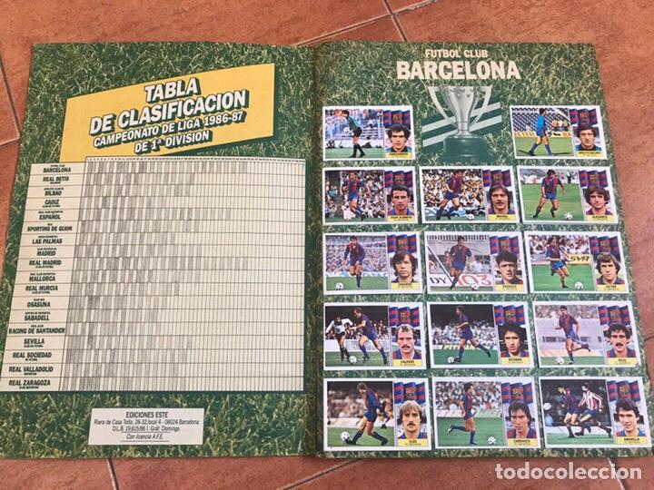 Álbum de fútbol completo: Álbum Ediciones Este 86-87 Completo Muchos dobles 1986-87 - Foto 2 - 160054432