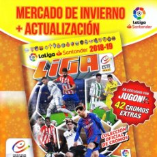 Álbum de fútbol completo: LIGA ESTE 2018 2019 MERCADO DE INVIERNO ACTUALIZACIÓN 42 CROMOS EXTRAS 18 19. Lote 234564505