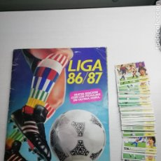 Complete Football Album - Album liga este 86 /87.. COMPLETO +48 DOBLES...369 cromos... - 161435212