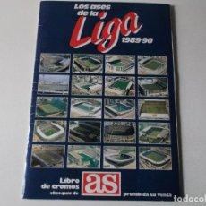 Álbum de fútbol completo: ALBUM CROMOS LOS ASES DE LA LIGA 1989/90 - AS - COMPLETO. Lote 161699722