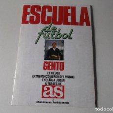 Álbum de fútbol completo: AS ESCUELA DE FÚTBOL GENTO LIGA 1991 92 COMPLETO. Lote 161701294