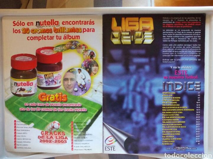 Álbum de fútbol completo: ÁLBUM FUTBOL EDICIONES ESTE LIGA 2002 2003 COMPLETO - Foto 2 - 194235956