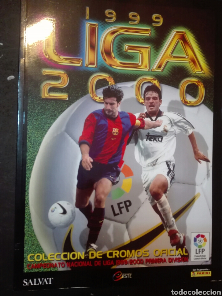 LIGA 1999/2000 CAMPEONATO PRIMERA DIVISIÓN COLECCIONES ESTE DE SALVAT (Coleccionismo Deportivo - Álbumes y Cromos de Deportes - Álbumes de Fútbol Completos)
