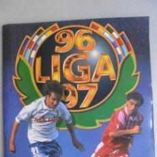 Álbum de fútbol completo: ALBUM CROMOS CAMPEONATO LIGA 96/97. COMPLETO. CON 136 DOBLES. Lote 163801734
