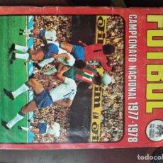 Álbum de fútbol completo: CAMPEONATO NACIONAL 1977-1978. COMPLETO. Lote 165096874
