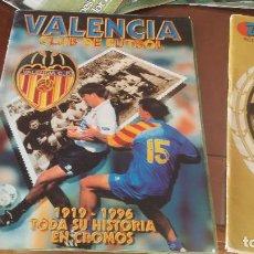 Álbum de fútbol completo: ALBUMES HISTORIA EN CROMOS - ALBUMES REAL MADRID, BARSA ,VALENCIA COMPLETOS- SUS INICIOS Y .... Lote 165261746