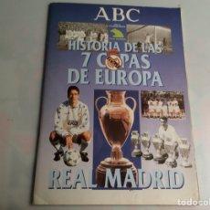 Álbum de fútbol completo: HISTORIA DE LAS 7 COPAS DE EUROPA, ALBUM COMPLETO -EDITA : ABC. Lote 43706951