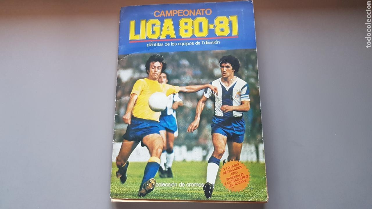 ALBUM TODO EDITADO COMPLETO 80 81 1980 1981 CON LOS 4 PINTADOS (Coleccionismo Deportivo - Álbumes y Cromos de Deportes - Álbumes de Fútbol Completos)