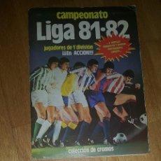 Álbum de fútbol completo: ALBUM CAMPEONATO DE LIGA 81 / 82. 1981 / 1982 EDICIONES ESTE. Lote 168558368