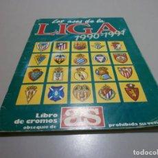 Álbum de fútbol completo: ALBUM COMPLETO ASES DE LA LIGA 1990 91 DE AS. Lote 168712124