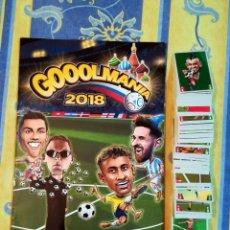Álbum de fútbol completo: COLECCION COMPLETA ALBUM + SET 309 CROMOS GOOOLMANIA 2018 WORLD CUP . Lote 169461780