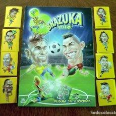 Álbum de fútbol completo: COLECCION COMPLETA ALBUM + SET 268 CROMOS BRAZUKA 2014 WORLD CUP. Lote 169461884