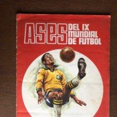 Álbum de fútbol completo: ALBUM COMPLETO ASES DEL IX MUNDIAL DE FUTBOL DISGRA 1970 BUEN ESTADO. Lote 169671549