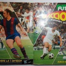 Álbum de fútbol completo: PACOSADOS - FUTBOL EN ACCION 1977 1978 77 78 - ALBUM DE CROMOS COMPLETO CON 25 DOBLES. Lote 170152644