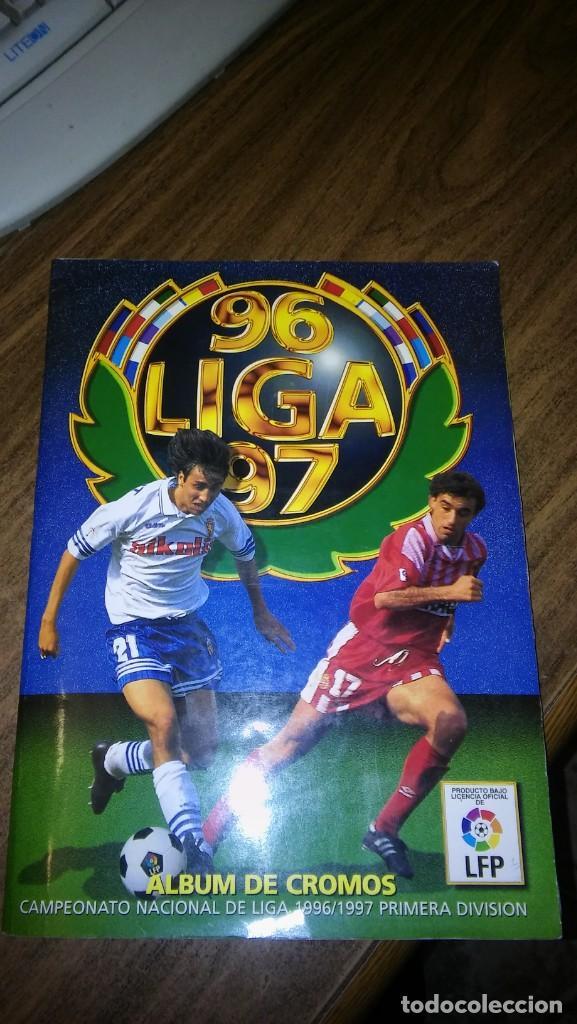 D. ESTE 1996 1997 96 97 - ALBUM CON 502 CROMOS PEGADOS MAS LOTE 18 CROMOS (BAJAS Y COLOCAS) (Coleccionismo Deportivo - Álbumes y Cromos de Deportes - Álbumes de Fútbol Completos)