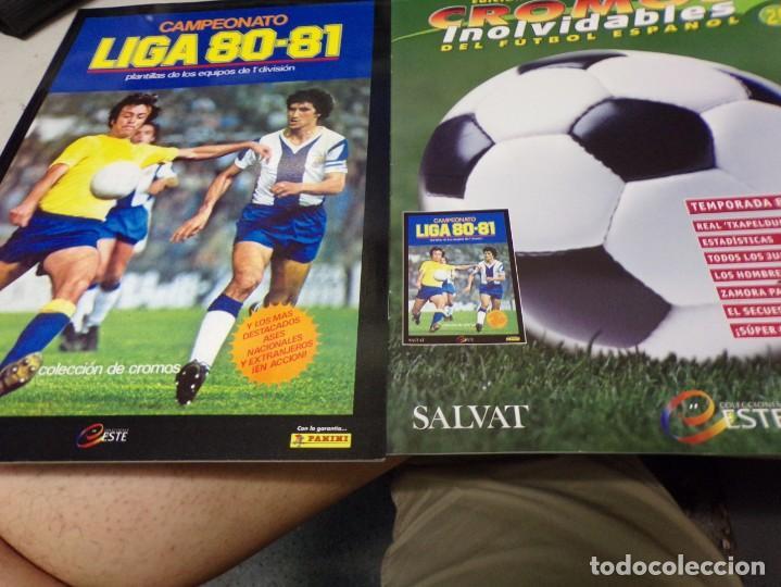 ALBUM CROMOS INOLVIDABLES FASCICULO PANINI SALVAT 1980-81 (Coleccionismo Deportivo - Álbumes y Cromos de Deportes - Álbumes de Fútbol Completos)