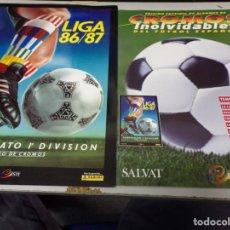 Álbum de fútbol completo: ALBUM CROMOS INOLVIDABLES FASCICULO PANINI SALVAT 1986-87. Lote 171622155