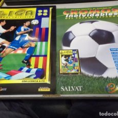 Álbum de fútbol completo: ALBUM CROMOS INOLVIDABLES FASCICULO PANINI SALVAT 1995-96. Lote 171624732