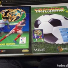 Álbum de fútbol completo: ALBUM CROMOS INOLVIDABLES FASCICULO PANINI SALVAT 1996-97. Lote 171625019
