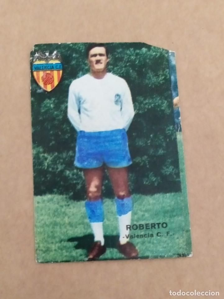 ROBERTO VALENCIA DISGRA FHER 67 68 1967 1968 RECUPERADO (Coleccionismo Deportivo - Álbumes y Cromos de Deportes - Álbumes de Fútbol Completos)