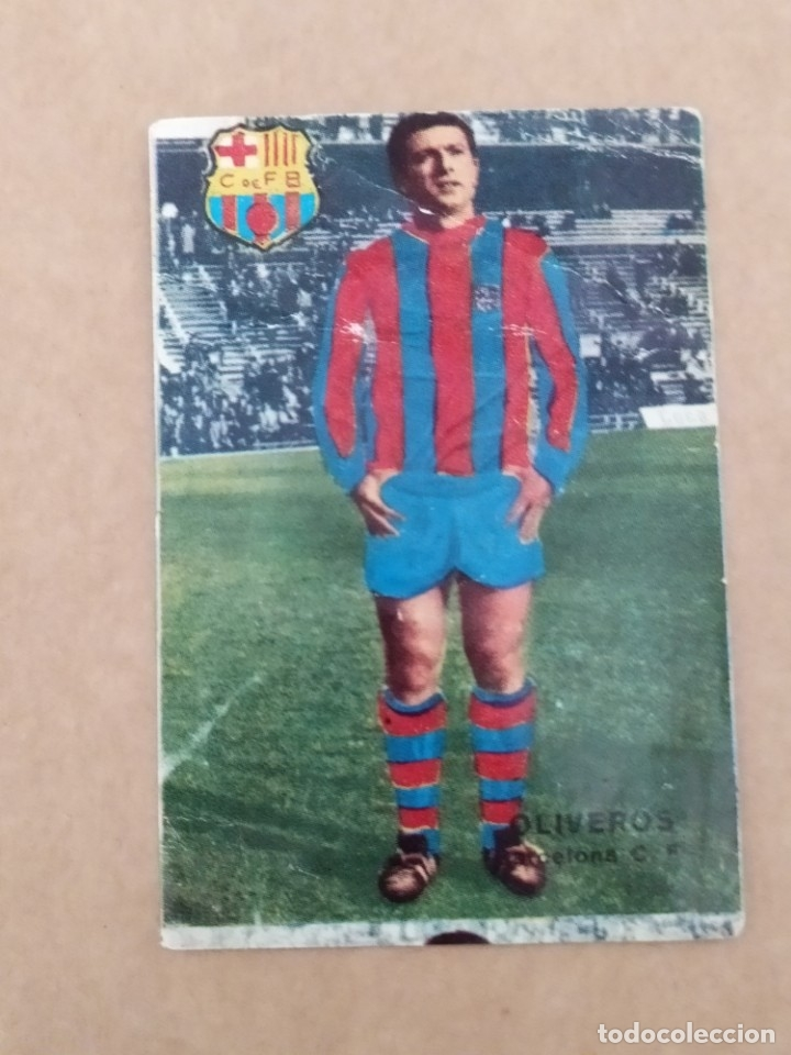 OLIVEROS BARCELONA DISGRA FHER 67 68 1967 1968 RECUPERADO (Coleccionismo Deportivo - Álbumes y Cromos de Deportes - Álbumes de Fútbol Completos)