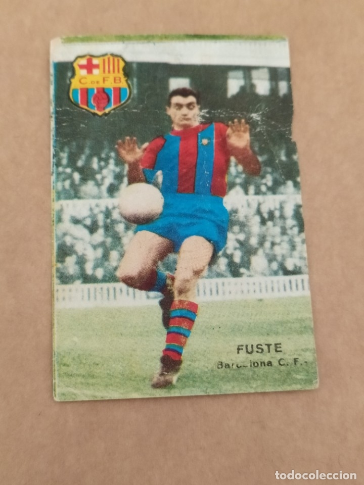 FUSTE BARCELONA DISGRA FHER 67 68 1967 1968 RECUPERADO (Coleccionismo Deportivo - Álbumes y Cromos de Deportes - Álbumes de Fútbol Completos)