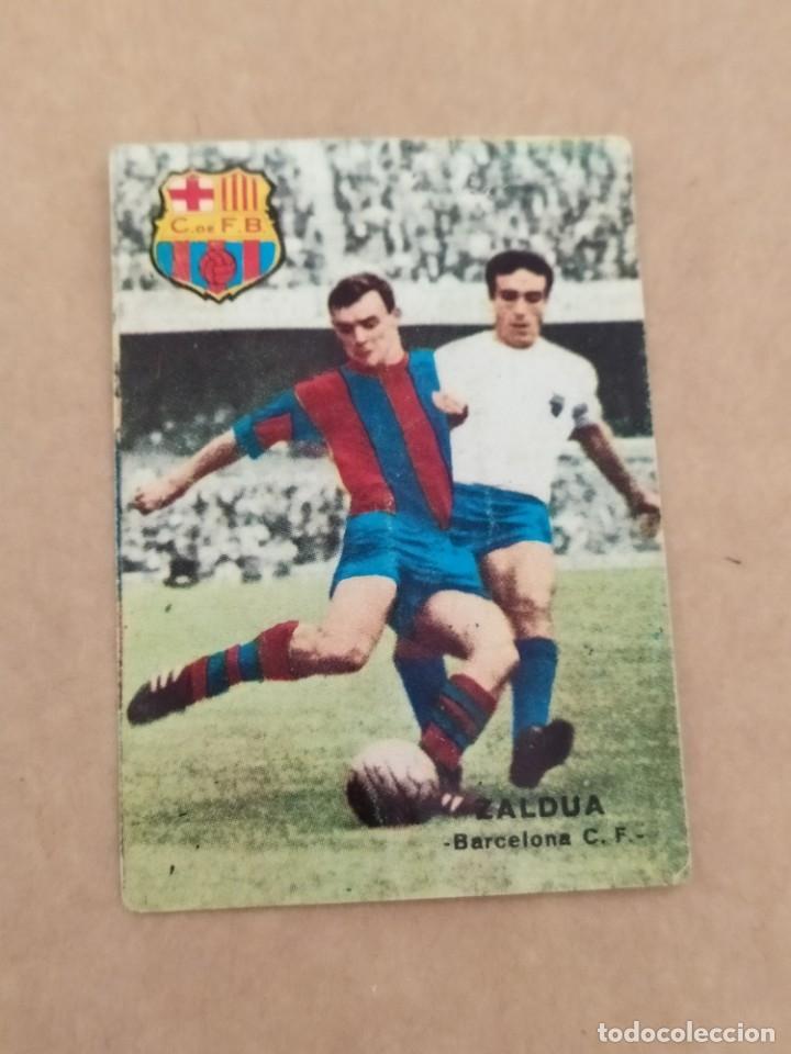 ZALDUA BARCELONA DISGRA FHER 67 68 1967 1968 RECUPERADO (Coleccionismo Deportivo - Álbumes y Cromos de Deportes - Álbumes de Fútbol Completos)