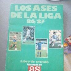 Álbum de fútbol completo: ALBUM LOS ASES DE LA LIGA 86/87. Lote 172573498