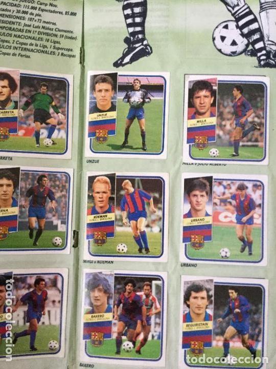 Álbum de fútbol completo: ALBUM COMPLETO. 1 CROMO POR CASILLA. LIGA 89-90. PARA ESTADO VER FOTOS. - Foto 3 - 175532670