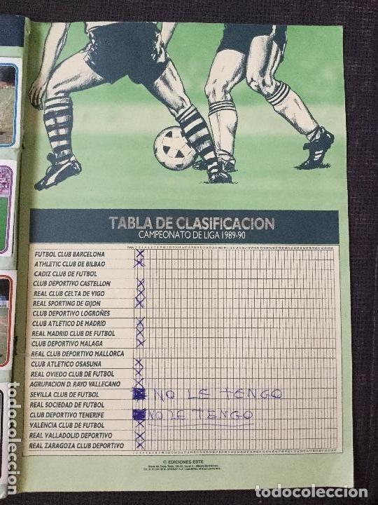 Álbum de fútbol completo: ALBUM COMPLETO. 1 CROMO POR CASILLA. LIGA 89-90. PARA ESTADO VER FOTOS. - Foto 5 - 175532670