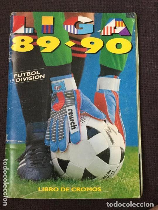 ALBUM COMPLETO. 1 CROMO POR CASILLA. LIGA 89-90. PARA ESTADO VER FOTOS. (Coleccionismo Deportivo - Álbumes y Cromos de Deportes - Álbumes de Fútbol Completos)