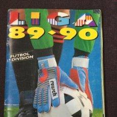 Álbum de fútbol completo: ALBUM COMPLETO. 1 CROMO POR CASILLA. LIGA 89-90. PARA ESTADO VER FOTOS.. Lote 175532670