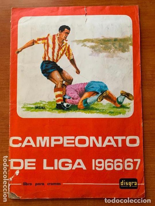 ALBUM COMPLETO - CAMPEONATO DE LIGA 1966 / 67 - ESCASO - ED. DISGRA. (Coleccionismo Deportivo - Álbumes y Cromos de Deportes - Álbumes de Fútbol Completos)