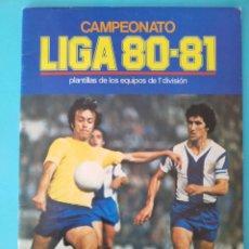 Álbum de fútbol completo: ÁLBUM VACÍO Y CROMOS LIGA ESTE 80 81 NUEVO. Lote 175910773