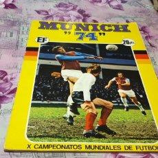Álbum de fútbol completo: MUNICH 74 X CAMPEONATOS MUNDIALES DE FUTBOL. Lote 176855107