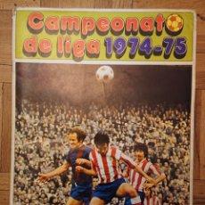 Álbum de fútbol completo: ÁLBUM FÚTBOL, 1974-75, DISGRA, FHER CON 360 CROMOS Y PÓSTER. Lote 176913548